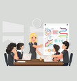 business meeting coaching ideas solution searching vector image