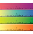 calgary multiple color gradient skyline banner vector image vector image