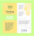 carton company brochure title page design company vector image vector image