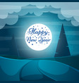 cartoon paper happy new year merry christmas vector image vector image