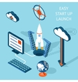 Cartooned Easy Start-up Launch Infographic Design vector image