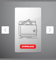 cash finance money personal purse line icon in vector image