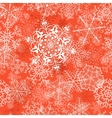 Christmas seamless pattern on orange vector image vector image