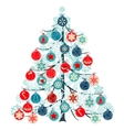 christmas tree made of balls vector image vector image