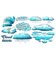 clouds in different weather set color vector image vector image
