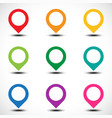 color map pointer set vector image vector image