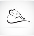 elephant head design on a white background vector image vector image