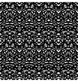 Ethnic pattern in black and white vector image vector image