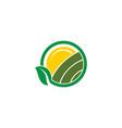 farm landscape nature icon design template vector image vector image