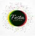 Festa junina party celebration background with vector image
