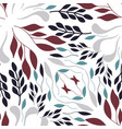 folk red green and grey leaves on white background vector image vector image