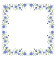 Frame with cornflowers and leaves vector image