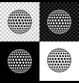 golf icon isolated on black white and transparent vector image vector image