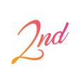 gradient pink to orange isolated hand writing vector image vector image