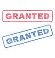 granted textile stamps vector image vector image
