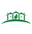 Green House ecology concept logo vector image vector image