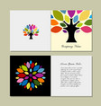 greeting card design with art tree vector image vector image
