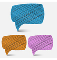 hand draw speech bubbles backgroundeps 10 vector image vector image