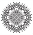 Hand drawing zentangle element Black and white vector image