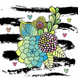 hand drawn abstract floral bouquet vector image