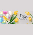 happy easter banneregg hunt beautiful background vector image
