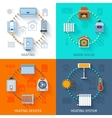 Heating System Icon Set vector image