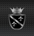 heraldic elements on metallic background vector image vector image