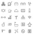 hotel line icons on white background vector image