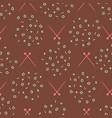 knitting needles stitches chart seamless pattern vector image