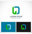 letter o shape company logo vector image vector image