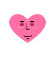 love sleeping emoji heart asleep emotion isolated vector image vector image