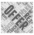 making an offer on a house Word Cloud Concept vector image vector image