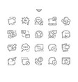 messages well-crafted pixel perfect thin vector image vector image
