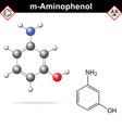 Meta aminophenol molecule vector image vector image