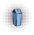 Milk or juice carton box comics icon vector image vector image