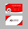 modern creative business card template with ad vector image vector image