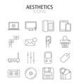 modern thin line flat design icons set vector image