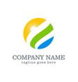 nature globe sun ecology company logo vector image vector image