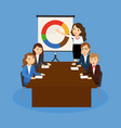 office teamwork board chart graphic documents vector image