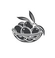 olives in a bowl glyph icon vector image vector image