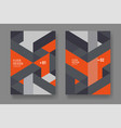 orange gray geometric background flyer design vector image