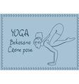 Outline girl in Crane yoga pose vector image