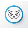 owl icon symbol premium quality isolated night vector image