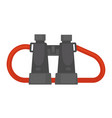 pair of binoculars with red rope isolated vector image vector image
