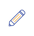 pencil line icon edit sign vector image