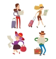 People with maps vector image vector image