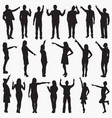 pointing silhouettes vector image vector image