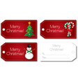 red christmas gift tag vector image vector image