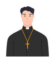 religious priest design element for poster label vector image