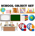 School objects and tools vector image vector image